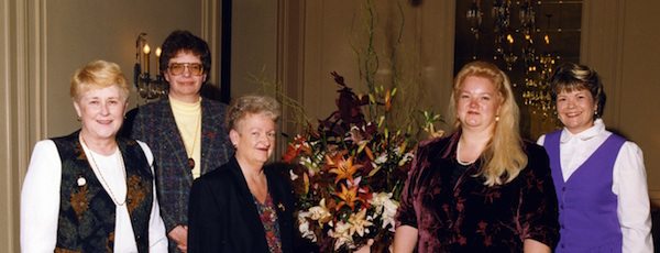 1998 CSNCN Board - Jane Schmidt, Esther Joscelyn, Betty Miller, Katherine Pennington, Pamela Roberts